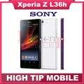 "Original desbloqueado sony xperia z l36h lt36h l36i c6603 13.1mp câmera quad-core 5.0 ""touchscreen 16 gb telefone remodelado"