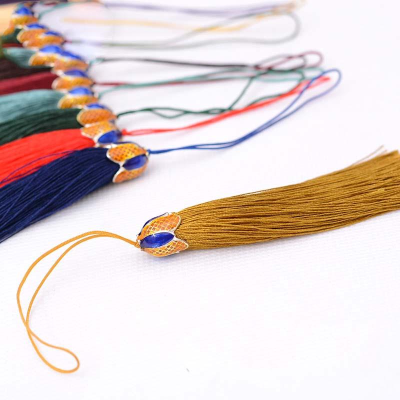 Longjie bookmarks ears key tassel garment Cloisonne wire inlay ...