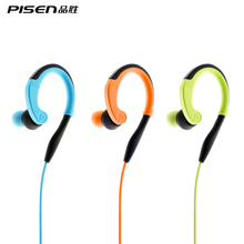 Pisen Earhook In-Ear Wired Stereo Sports Earphone R100 Antishock Sweatproof Running Headphones With Mic For iPhone 6 s plus 7