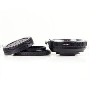 Image 5 - Pixco dla EOS M 4/3 reduktor ogniskowy wbudowany zestaw apertury do Canon mocowanie EF obiektyw do Micro 4/3 + osłona obiektywu u clip + paski do aparatu
