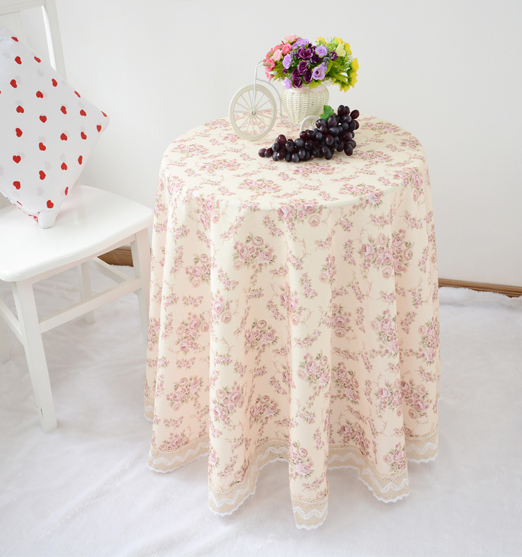 Hot Sale Pastoral Style High Quality Crochet Round Tablecloth