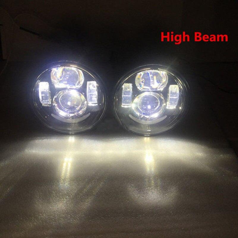 2 sztuk motocykl 5 Cal Moto okrągłe reflektory dla harley dyna FXDF Model światła drogowe 5