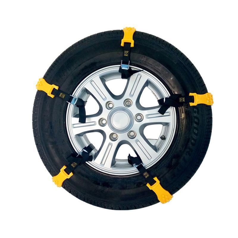 Adeeing 10 pièces/ensemble chaînes de pneus de neige de voiture Tendon de boeuf véhicules roue antidérapant chaîne en TPU chaînes de neige de voiture universel r30