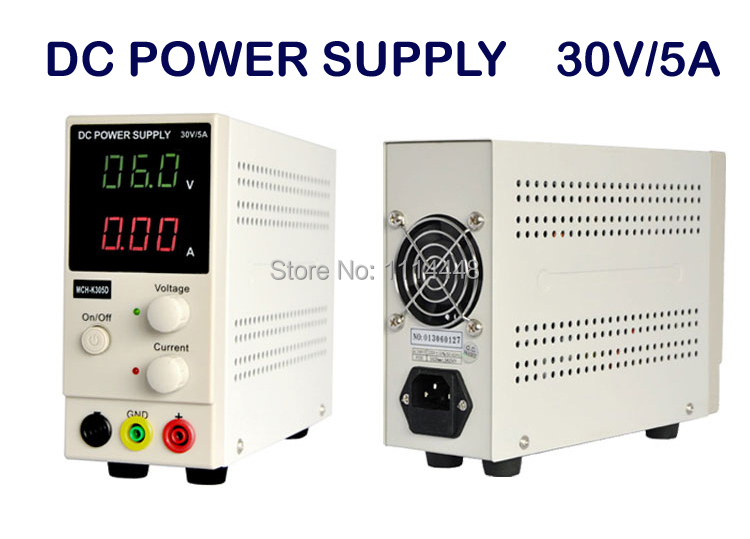 New 0 ~ 30V 0 ~ 5A Portable Mini DC regulated Adjustable DC power supply Mobile phone / laptop repair power image