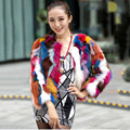 short fashion style women lady real natural raccoon fur jacket hot selling best price female mixed multi color outweat coat