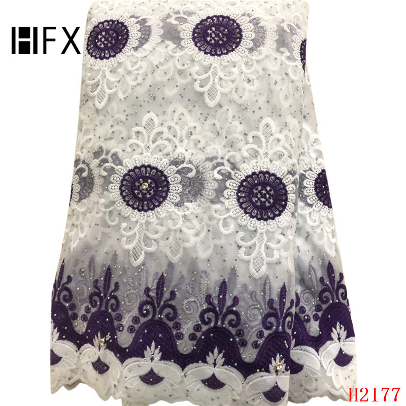 HFX African Lace Fabric Latest Nigeria Embroidery Nigeria French Tulle Fabric 2019 High Quality Lace Milk Silk Fabric X2177HFX African Lace Fabric Latest Nigeria Embroidery Nigeria French Tulle Fabric 2019 High Quality Lace Milk Silk Fabric X2177