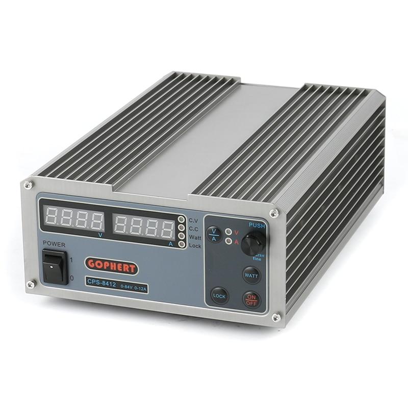 CPS-8412 Haute efficacité Compact Réglable DC Numérique Alimentation 84 v 12A OVP/OCP/OTP Alimentation UE plug UA
