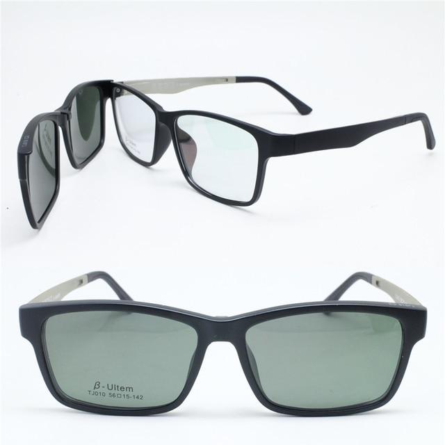 35ce10b4fc VENTA RÁPIDA 010 gafas de sol polarizadas removibles de forma cuadrada con  clip megnatic para lentes