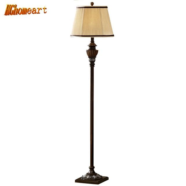 Hghomeart Modern Luxury Led Resin Retro Floor Lamp E27 Wood Floor