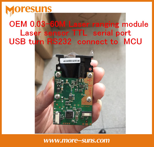 Free Ship laser distance measurement font b sensor b font TTL serial phase method USB turn