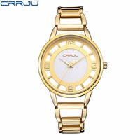 CRRJU Watches Woman Luxury Brand Ladies Watch Quartz Watch Casual Female Wristwatches Stainless Steel Strap Assista