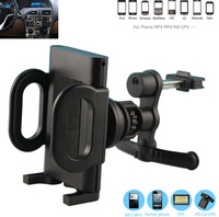 Rotary Plastic Car Air Vent Clip GPS Cell Phone Mounts HOlders Stands For Huawei P9 Lite