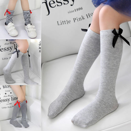 Cute Girl Kid Knee Long Socks Cotton Stocking Baby Toddlers Leg Warm Leggings