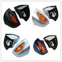 Pair Silver Rear View Mirrors Turn Signal For BMW R1100 RT R1100 RTP R1150 RT Motorcycle