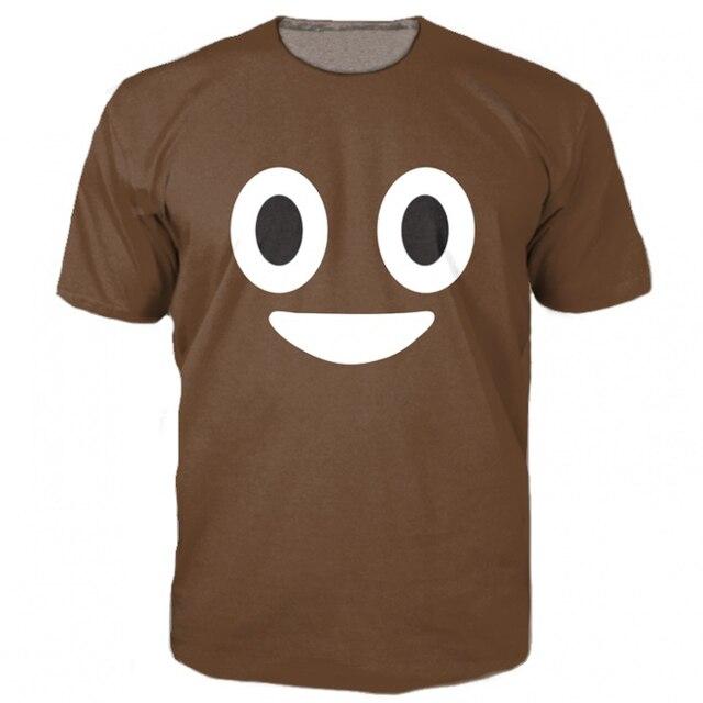 864c58b6 new arrive Poop Emoji T-Shirt cute turd characters 3d print t shirt fashion  clothing tops Summer Style tee for women men