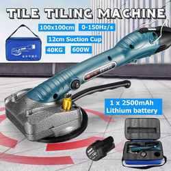 Vibrador de azulejos portátil para baldosas de 100x100 cm, máquina de yeso para suelos, máquina de colocación de baldosas con batería, vibrador automático para pisos, herramienta de nivelación
