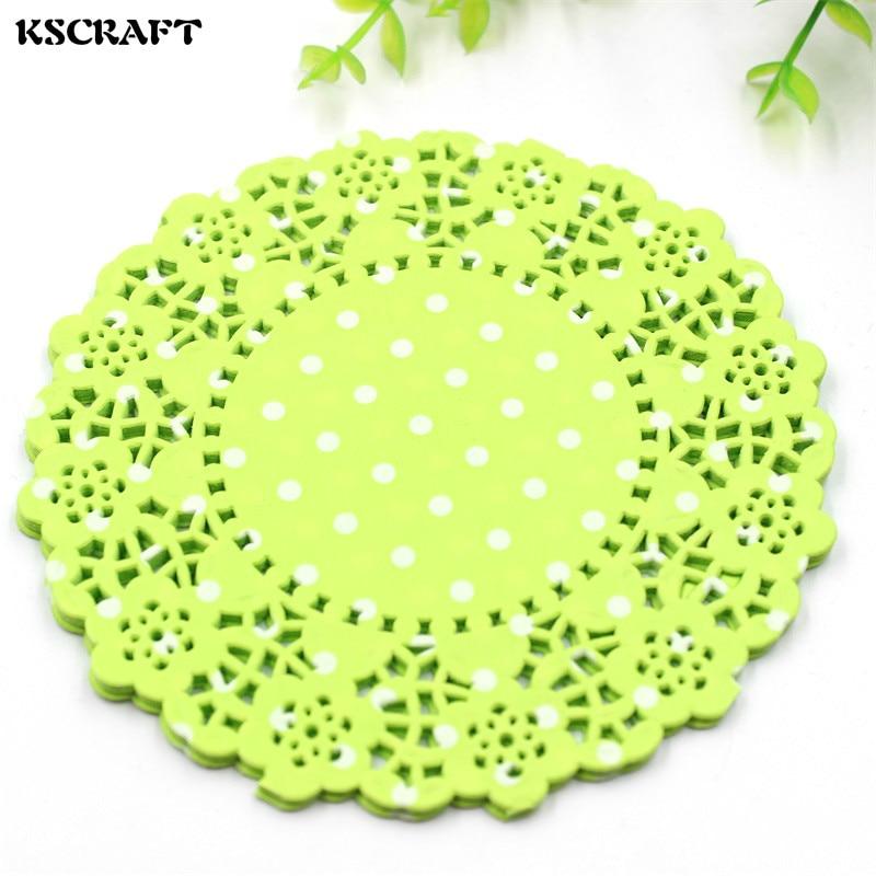 Kscraft 45 Light Green Lace Paper Doiliesplacemats For Wedding