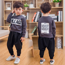 new Boy's clothing sets spring autumn Baby Sets cotton boy tracksuits Kids sport suits letters coats/sweatshirts+pants