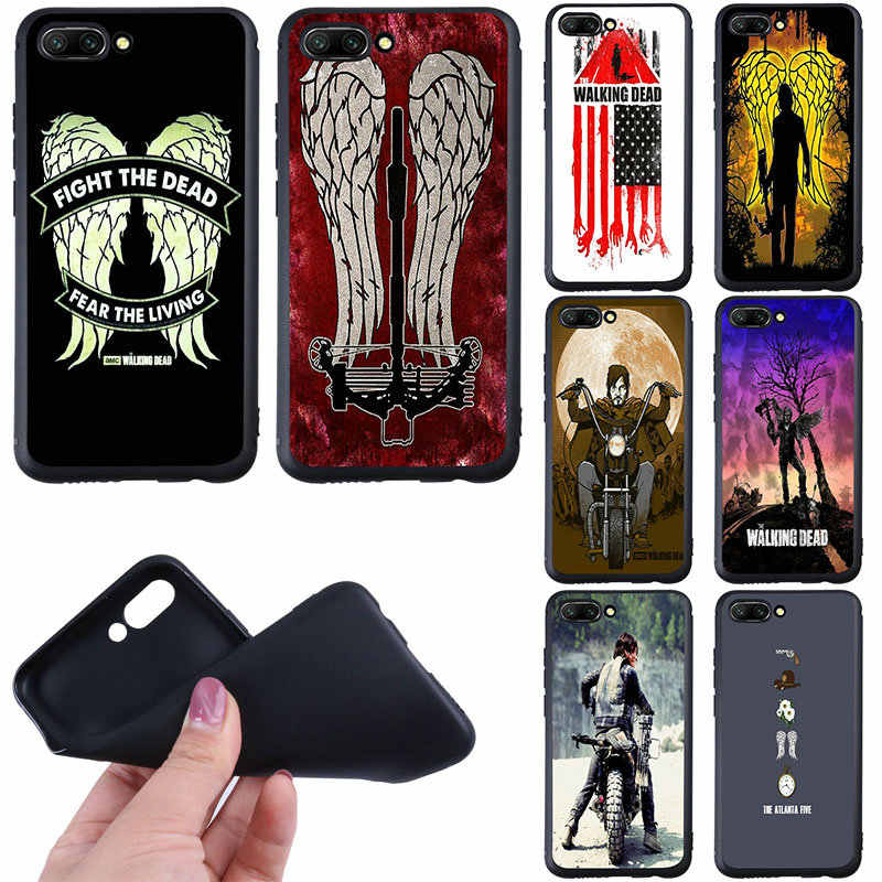 Soft Phone Cases for Huawei P8 P10 P20 P30 Mate 10 20 Pro Honor 6A 7A 7X 8A 8X 8C 9 10 Lite Shell Fundas Walking Dead Wings Logo
