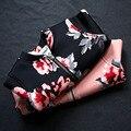 Outono/Inverno Baby Girl Zipper Jacket Tops Brasão Da Criança Criança Outerwear Floral