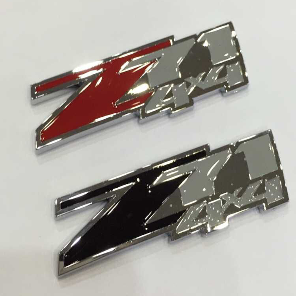 Red black grey abs z71 4x4 emblem badge fits chevrolet silverado 1500 gmc