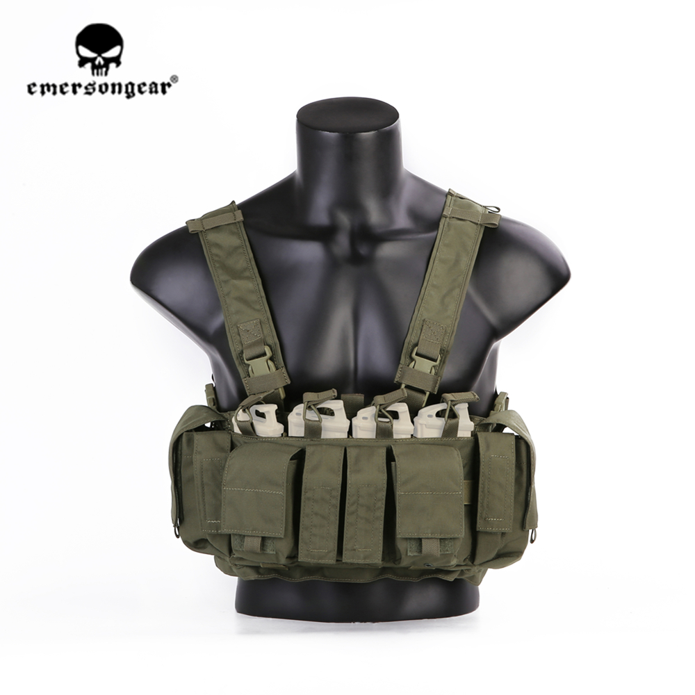 emersongear Emerson MF style Tactical Chest Rig UW Gen IV Hunting Vest Ranger Green Harness Split Front Carrier CS Military Gear