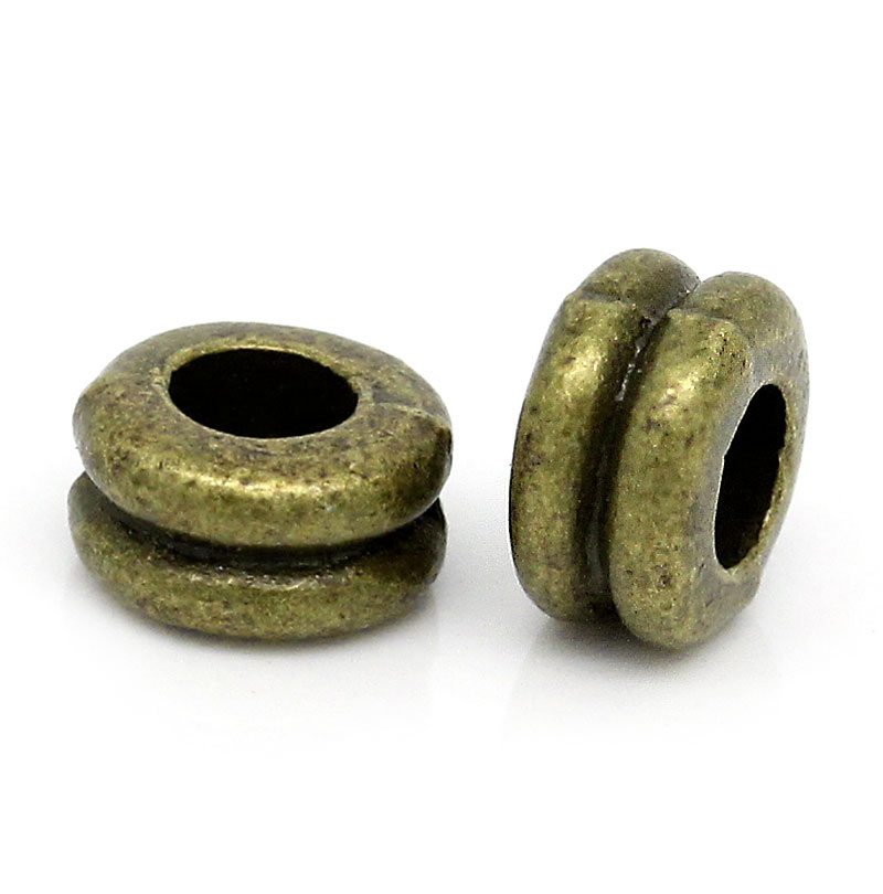 Zinc metal alloy Spacer Beads Dumbbell Antique Bronze  About 6mm( 28) x 3mm( 18), Hole:Approx 2.6mm, 30 PCs