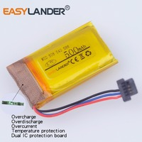 3.7v 500mAh Rechargeable li Polymer battery For DVR GPS MP3 MP4 MIO mivue 508 MIO mivue 540 MIO mivue 588Driving recorder