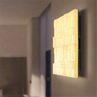 DIY квадратный Акрил светодиодный настенный светильник Современный Творческий бра прикроватные диммер Настенные светильники дома Освещени