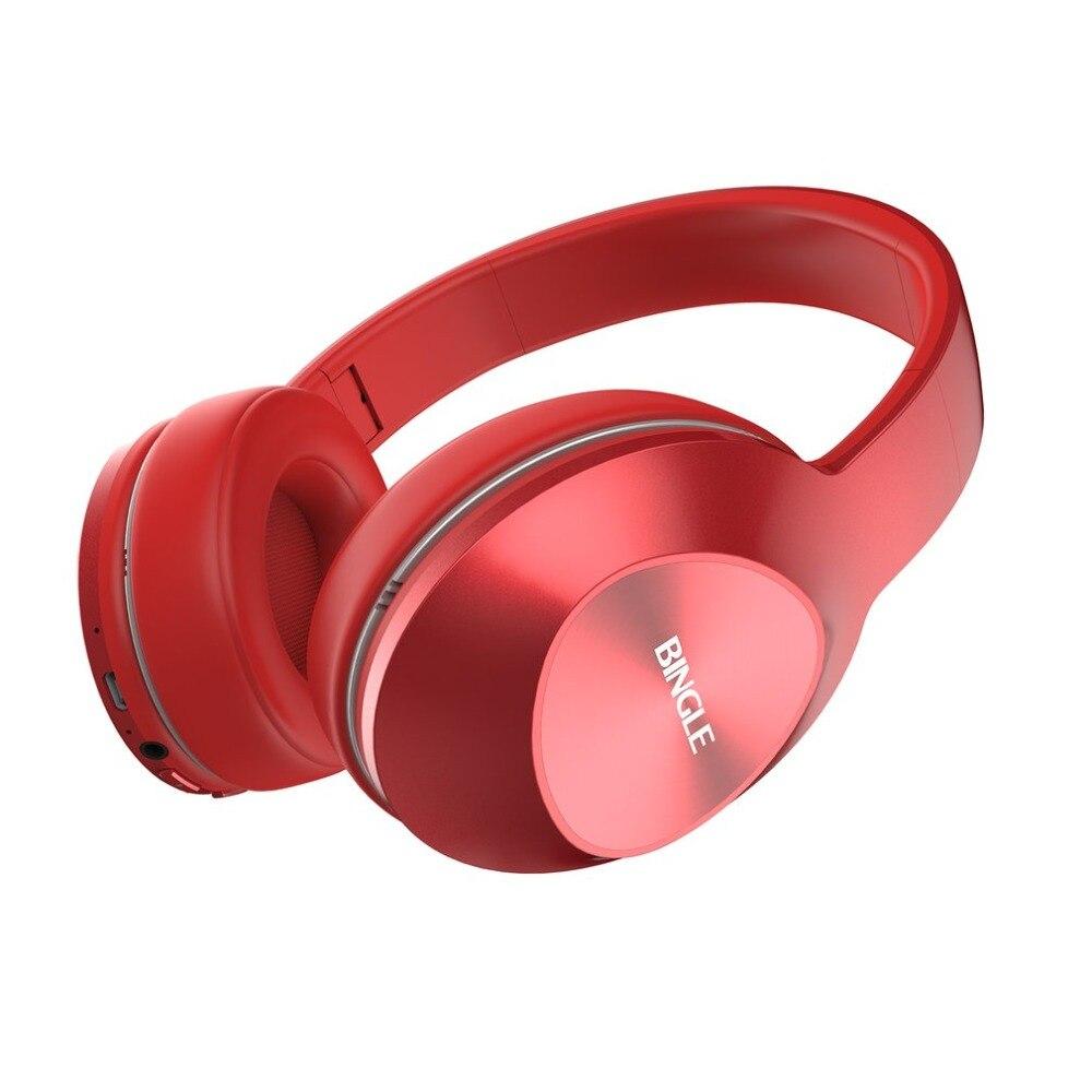 Bingle Fashionable Design Lightweight Wireless Bluetooth Headphone Wear Comfort Music Playing Headset With Microphone masentek m18 fashionable bluetooth v3 0 edr music bluetooth headset white
