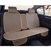 Breathable Mesh Car Seat Covers Universal Rear Seat Pad Set Four Seasons Summer Cool Seats Cushion Luxurious Car Seat Protector