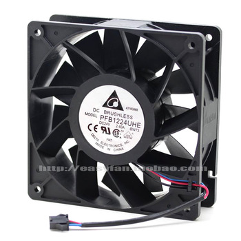 NEW DELTA PFB1224UHE-8F53 12038 24V 2.40A 12CM high air volume frequency cooling fan