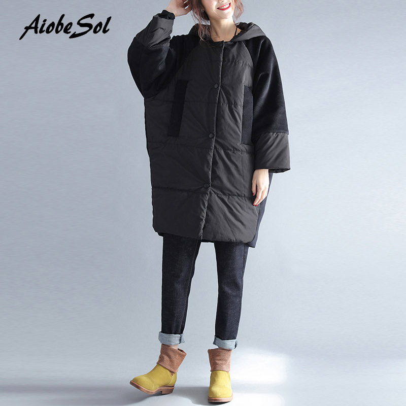 Women Cotton Padded Jacket Winter Plus Size Solid Hooded Parkas Female Casual Fashion Oversize 2017 Thickening New Coat new 2017 winter women coat long cotton hooded casual parkas thickening outerwear plus size padded jacket cotton coats xt0247