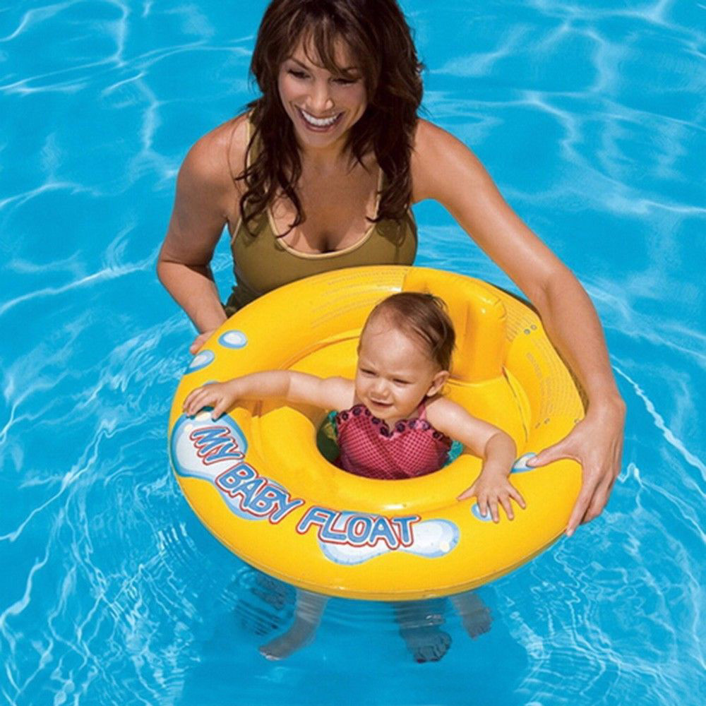 Baby Swimming Float Baby Seat Float Inflatable Yellow Duckling Summer Water Fun Pool Toy Kids Ring Outdoor Gadgets DQ