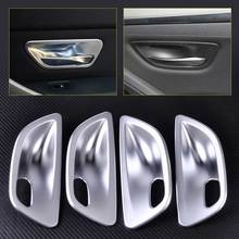 4pcs ABS Plastic Matte Chrome Interior Door Handle Cup Bowl Cover Trim for BMW 5 Series F10 Sedan 2011 2012 2013 2014 2015 2016