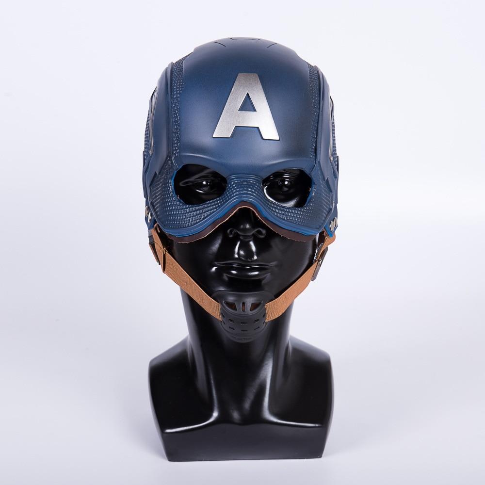Cos Movie Superhero Civil War Captain America Helmet Cosplay Steven Rogers Mask PVC Man Adult Halloween