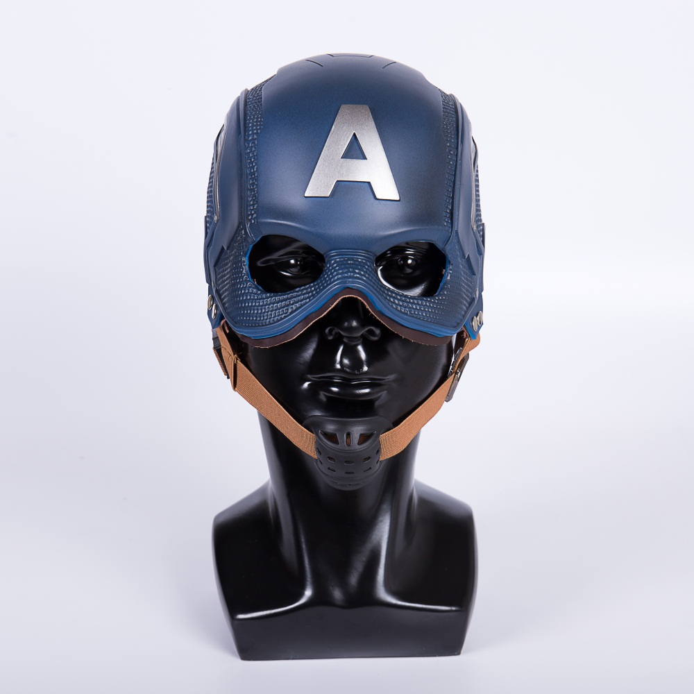 Cos Movie Superhero Civil War Captain America Helmet Cosplay Steven Rogers Mask PVC Man Adult Halloween Party Prop image