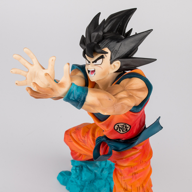 Anime Dragon Ball Z Son Goku Figures Shock Wave Super Saiyan 17CM