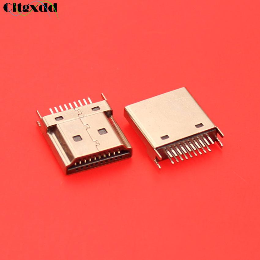 cltgxdd HDMI 19 pin male plug interface Connector,2 row pins 19Pin(10pin 9pin) 1.6MM spacing for HD equipment HDMI socket