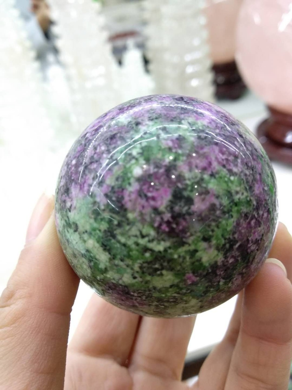 Beautiful Natural Unakite Stone Oval Sphere Ball Miner as Christmas gift
