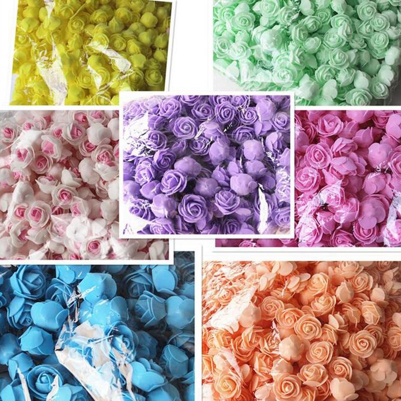 50 шт./пакет пенополиэтилен Роза ручной работы DIY свадебное украшение дома Многофункциональный искусственный цветок голову 2D