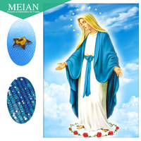 Meian Special Shaped Diamond Embroidery Religion Our Lady 5D DIY Diamond Painting Cross Stitch Diamond Mosaic