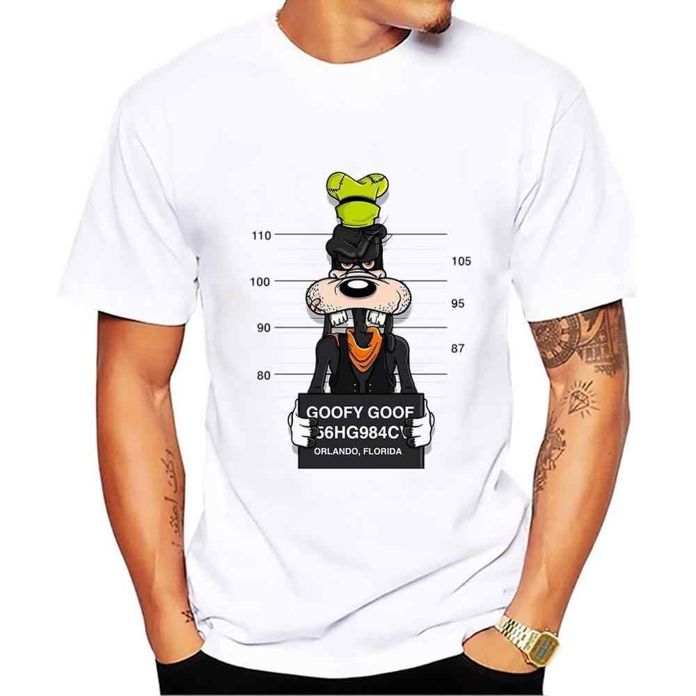 Новые футболки с принтом Микки Мауса, футболки для мужчин, топы в стиле хип-хоп, Повседневная футболка с забавной собачкой из мультфильма, удобные хлопковые футболки, размер S-5XL