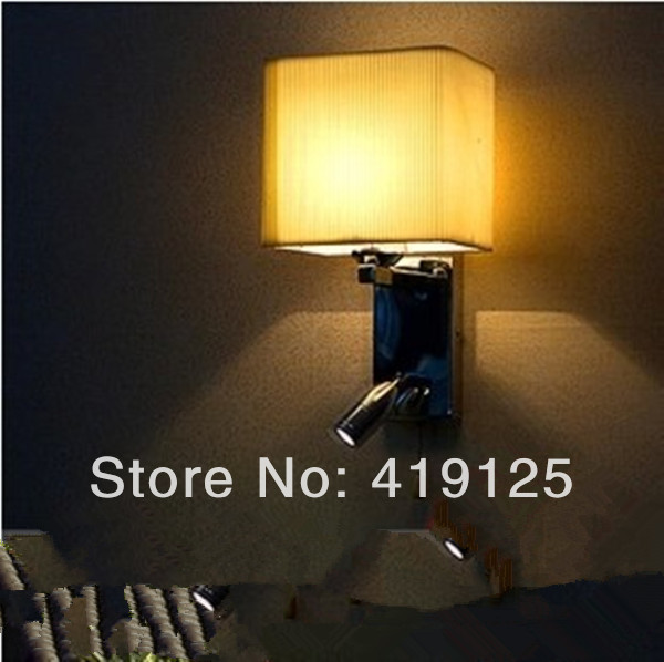 Free shipping Led reading lamp ofhead pullswitch rocker arm retractable wall lamp free shipping 2 bedside wall lamp plumbing hose led reading light reading lamp fabric rocker arm wall lamp 5006 2