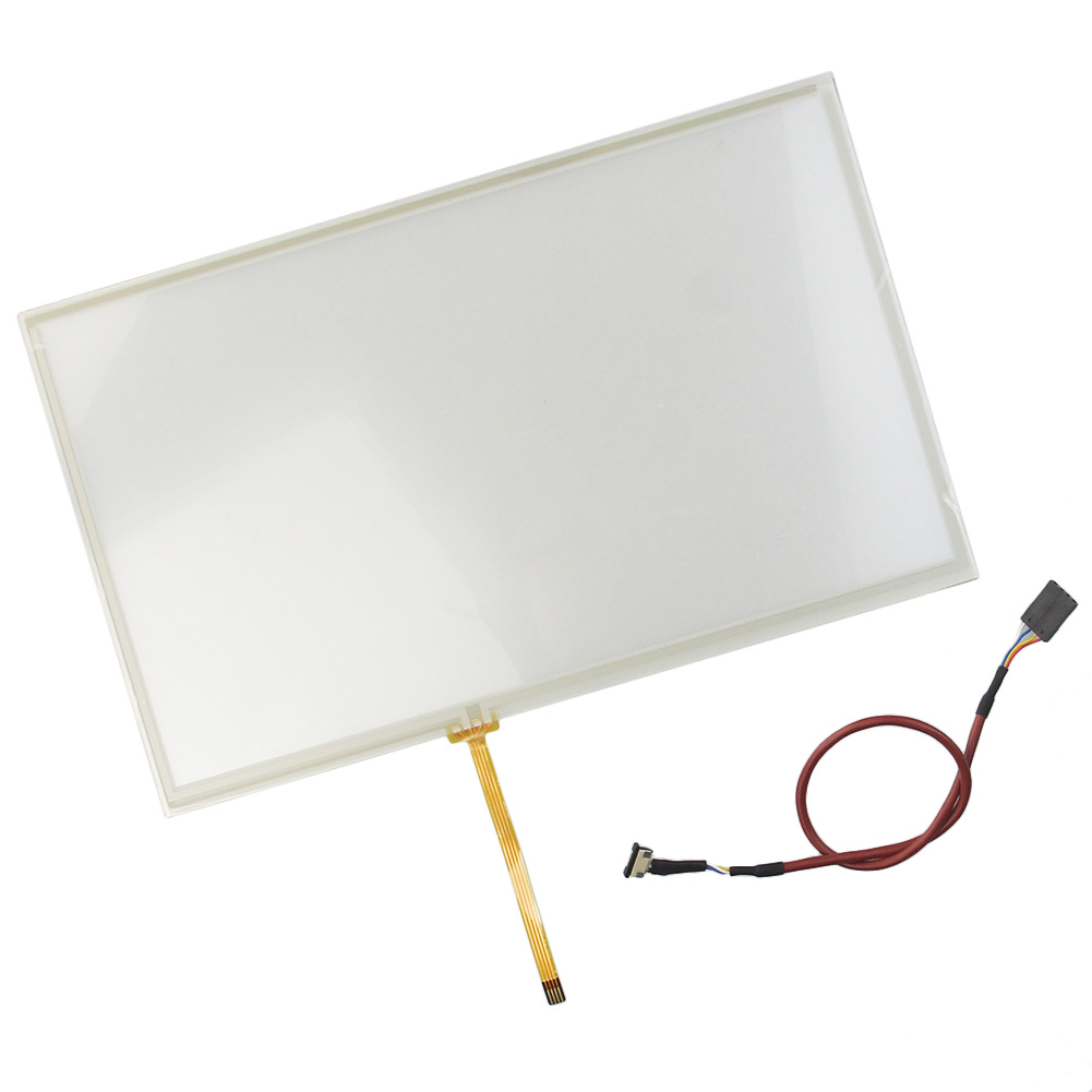 ФОТО 10pcs/Lot 10.3 inch 235*145mm 4 Wire Resistive Touch Screen Glass Panel  Free Shipping