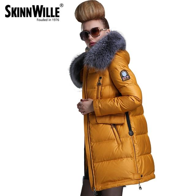 SKINNWILLE 2016 Новый зимний длинном пальто женщин Новинка женское пальто зимняя куртка женщины куртки Утолщенние Длинное Пальто