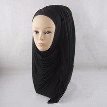 Phealthy специально сплошной цвет мягкий дышащий полный с эластичный хлопок хлопчатобумажные хиджабы