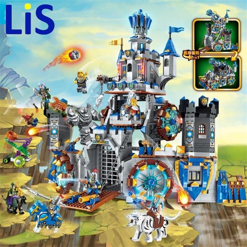 (Lis) Enlighten 2317 1541pcs War Of Glory Castle Knights Battle Bunker Building Block Brick Toy art of war