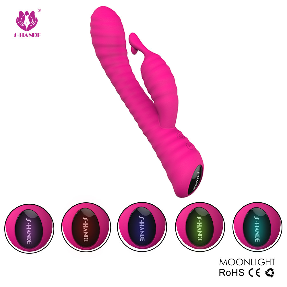 Schand Female Vibrator Bar Massage Bar Adult Products Nine Frequency Soft Silicone Massage Stick