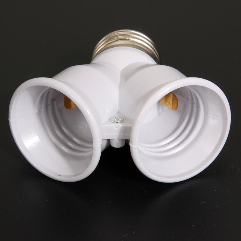 2 в 1 двойной E27 разъем удлинитель основания сплиттер разъем галогенный светильник лампа держатель медный контакт адаптер конвертер